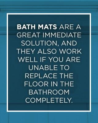 bath mats help seniors keep their traction in the bathroom
