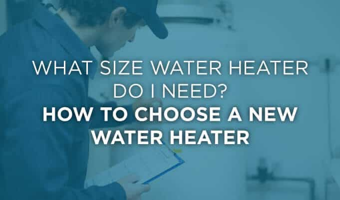 helpful graphic on how to choose a new water heater