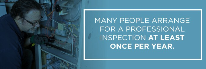 a home climate's professional inspection usually occurs once a year