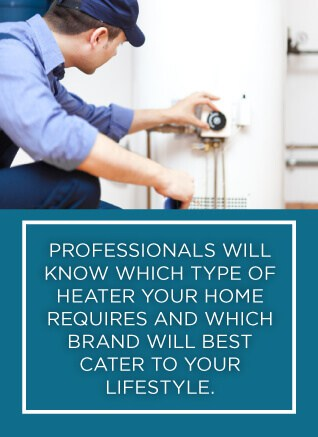 a home climates technician installing a new water heater