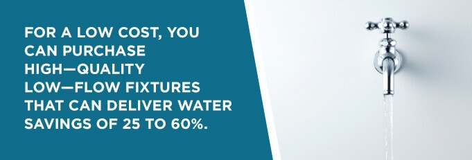water fixtures that deliver savings of 25-60%