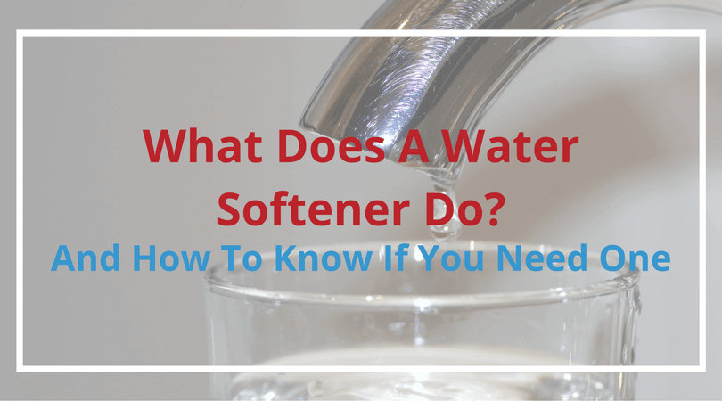 what does a water softener do?