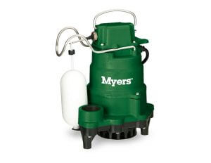 SUMP PUMPS WITH BATTERY BACKUP POWER BY MYERS