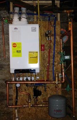 a water heater in a Elizabethtown Basement