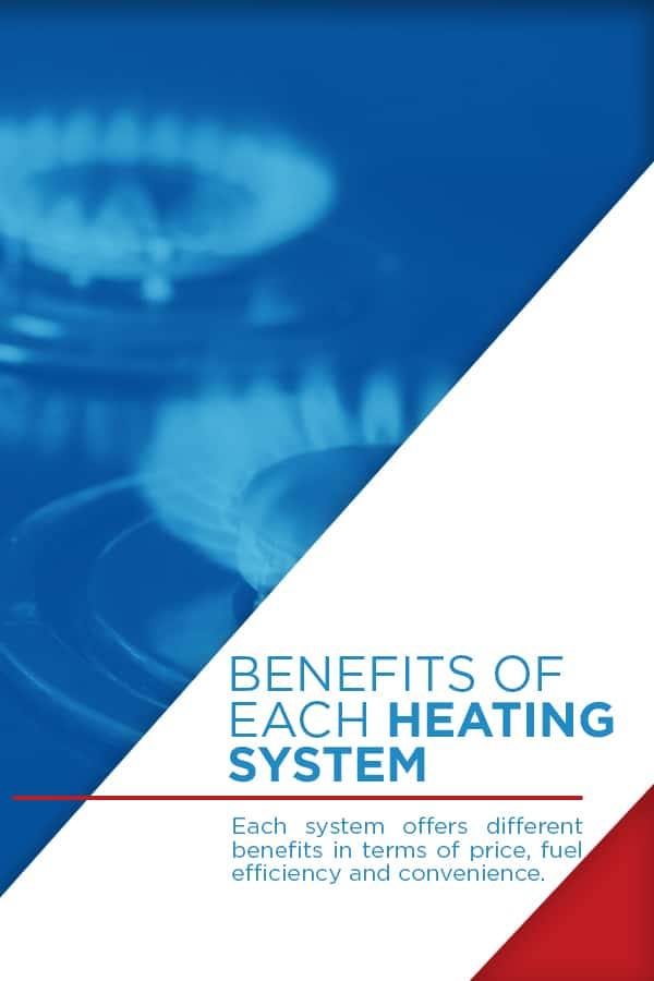 graphic explaining the different benefits of each heating system