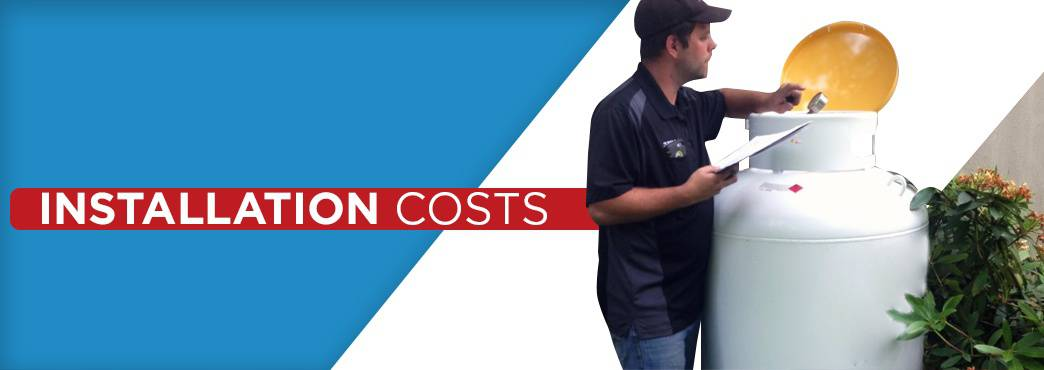 installation costs of each heating system