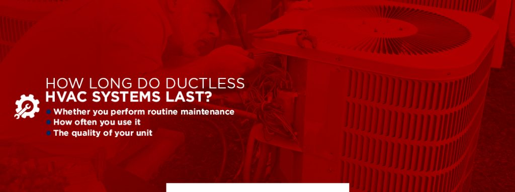 how long do ductless systems last graphic