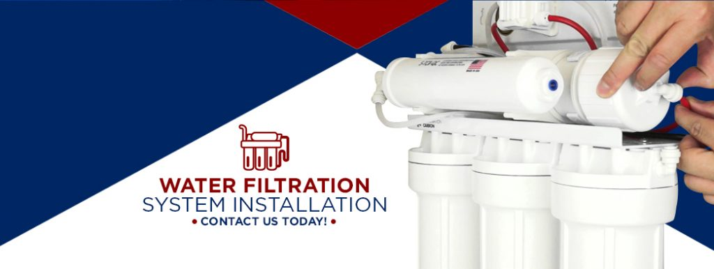 water filtration system installation graphic