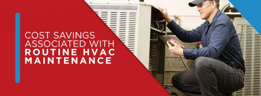 service technician performing routine hvac maintenance