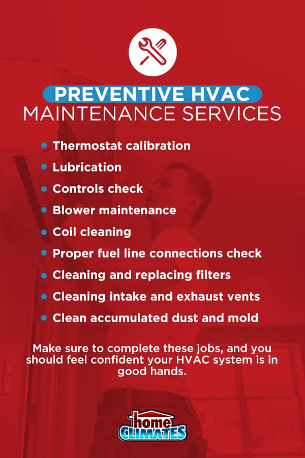 preventive hvac maintenance service checklist