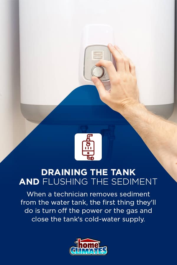 how to drain the tank and flush the sediment