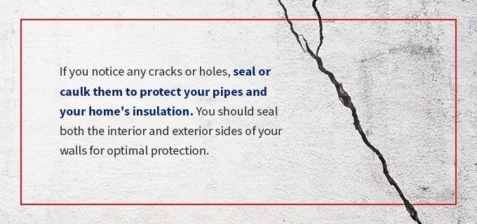 seal cracks or openings in your home graphic