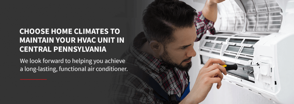 home climates maintains hvac units in central Pennsylvania