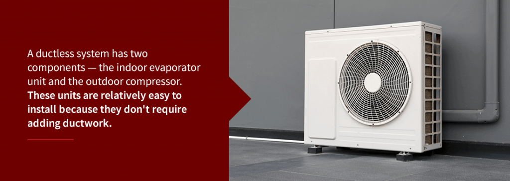 the outdoor ductless system compressor