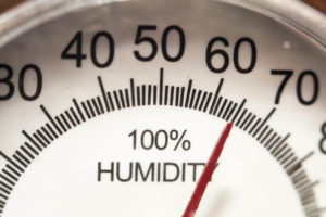 A Humidity meter points to 65% humidity level.